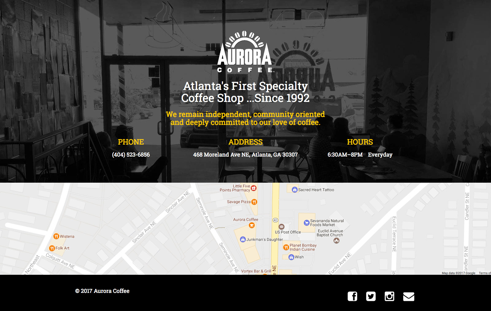 Aurora Coffee Website