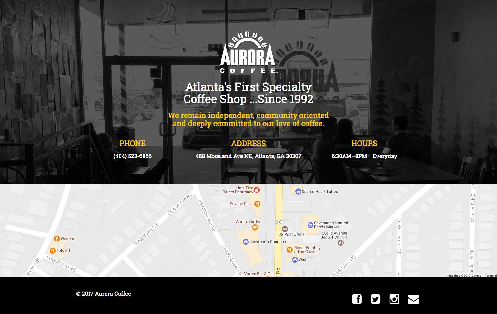 Aurora Coffee Website